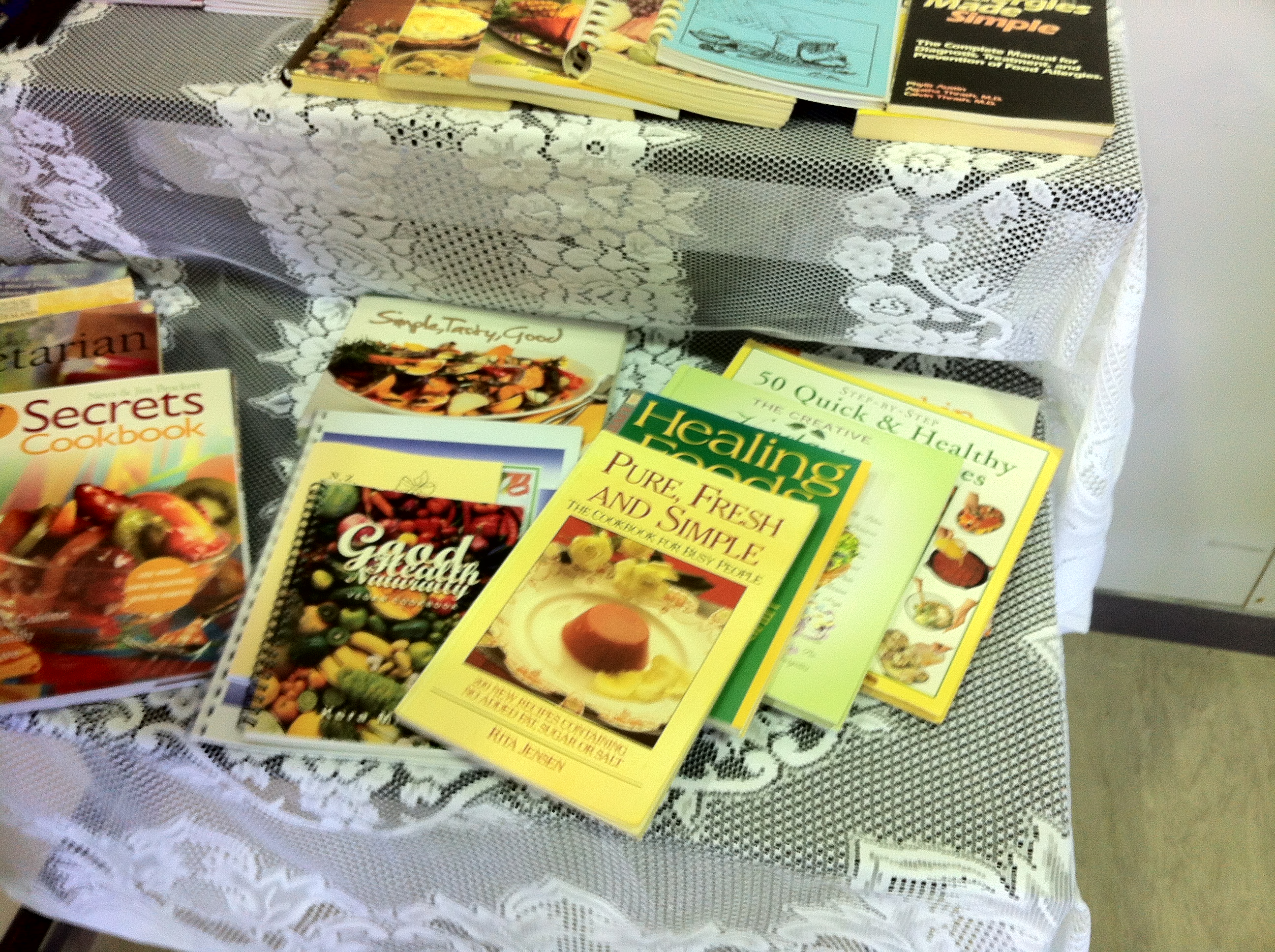 Here are some of suzannes books about vegan cooking
