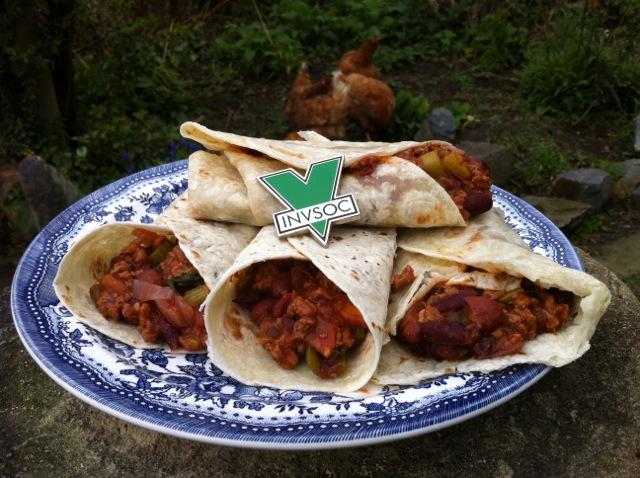 TVP Bean Burritoss