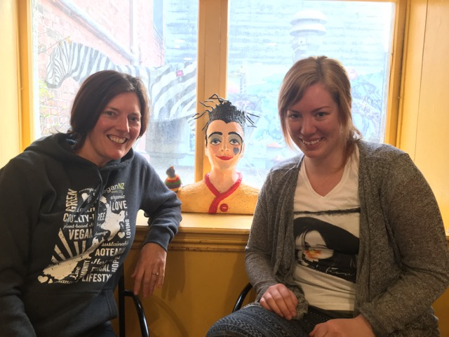 IMG_0376 Jen with Holly new Southland Times vegan reporters